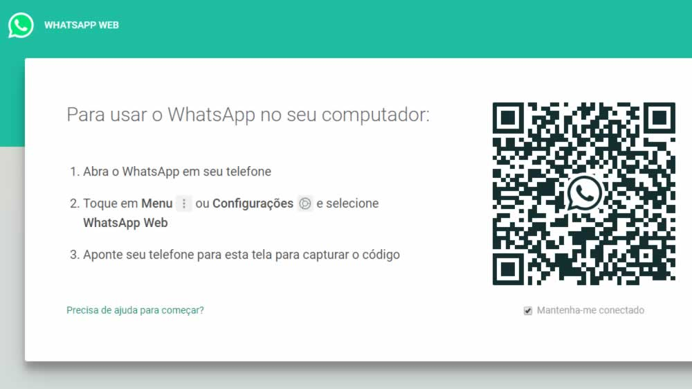 como conectar meu iphone no whatsapp web